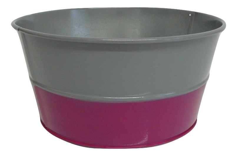 X09014 Grey and Cerise Bowl