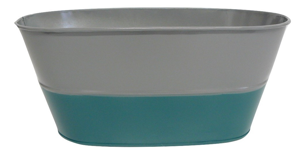 X09025 Grey and Teal Oval