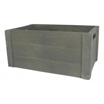 GREY CRATE WITH SIDE HANDLES