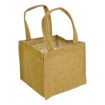 Hessian Plain Bag 13*13*11.5cm