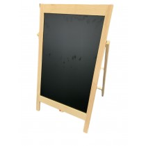 Large Black and White Notice Board On Reversible Stand