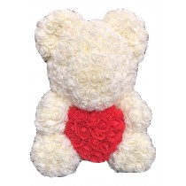 Valentines Rose Teddy 40cm Gift Boxed