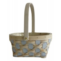 'Hollywood' lilac oval 24cm Basket with handle